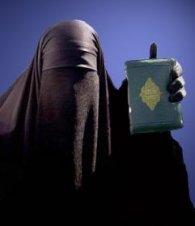 Muslim woman koran