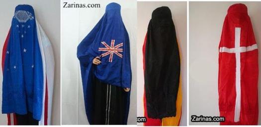 Burqa-drapeaux