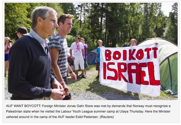 Norvege-boycott-israel