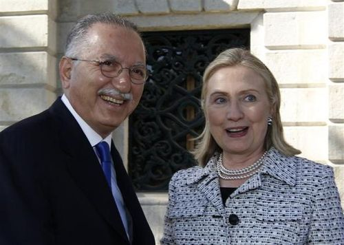 Secretary Clinton and OIC Secretary General Ekmeleddin Ihsanoglu