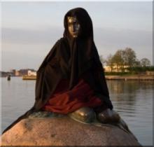 Danemark-statue voilee