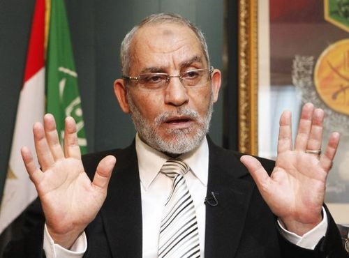 650895_egypt-s-muslim-brotherhood-leader-mohamed-badie-speaks-during-an-interview-with-reuters-in-their-headquarters-in-cairo