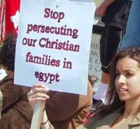 Coptic-Christians-protest-Egypt-persecute-sign-300x277