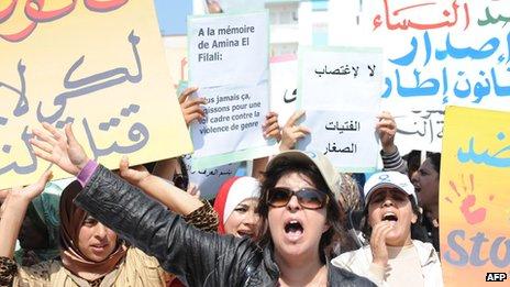Maroc-femmes-manifestent