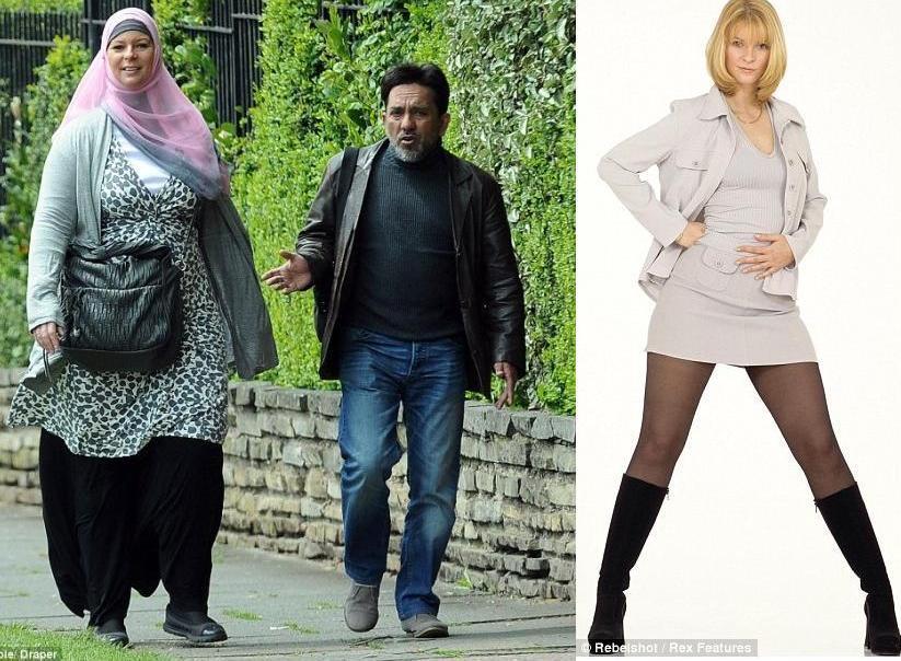 gb la muslima lauren booth couverte de la tte aux pieds se balade avec son nouveau mari - Mouslima Mariage