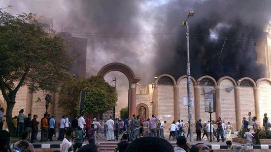 Egypte-eglise-copte-incendiee