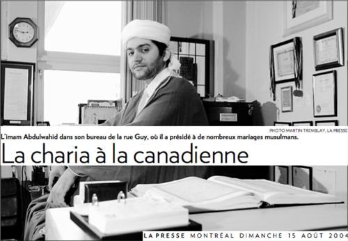 Polygamie_montreal_imam_discriminatoire